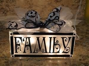 Personalized lighted glass block | Craft Ideas