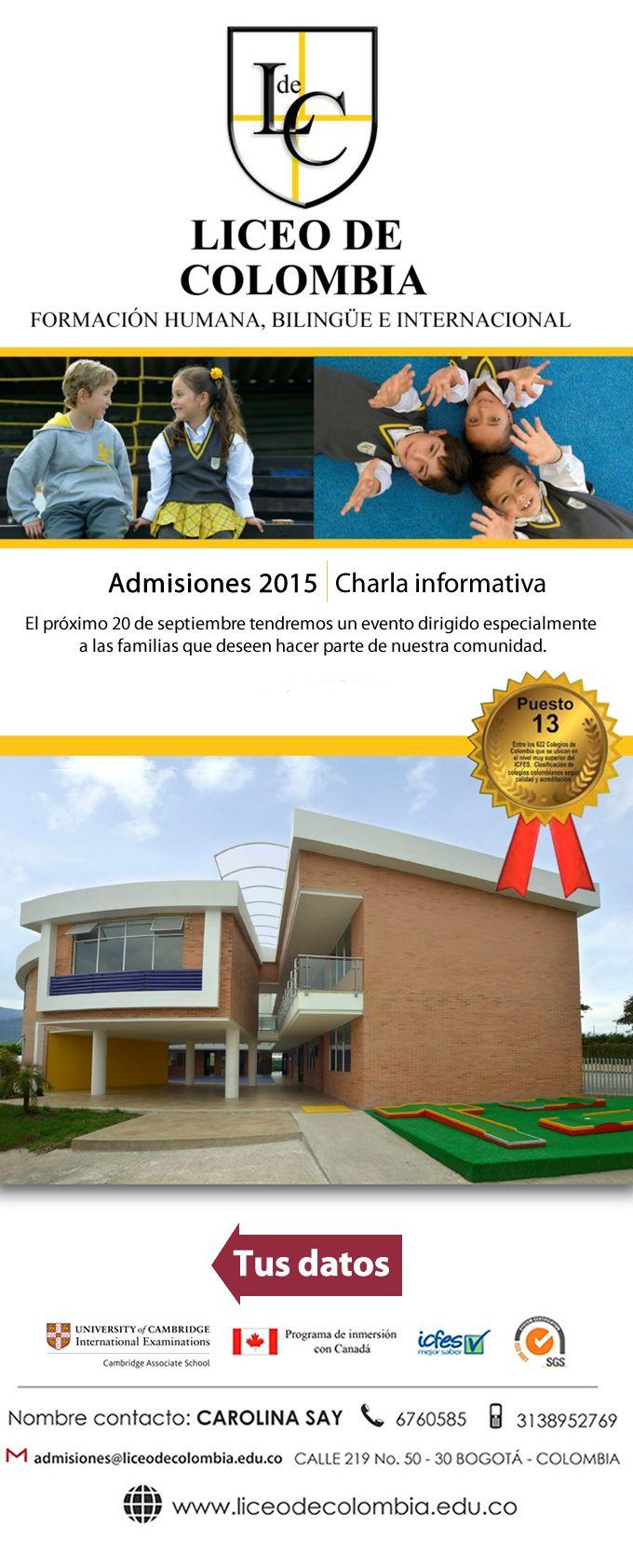 #NOVOCLICK esta con @LICEODECOLOMBIA y su proceso de inscripción matriculas 2015 colegio #13 calidad superior icfes