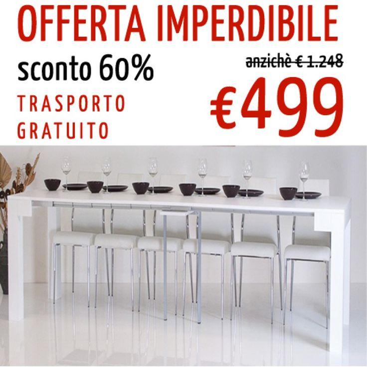 TAVOLO CONSOLLE ALLUNGABILE fino a 3mt BIG Ottimo tavolo made in Italy. Prezzo OTTIMO