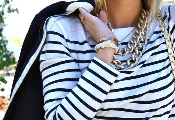 Top 20 Fashion Accounts to Follow on #PinterestNautical Style, 2 Chainz, Fashion Details, 20S Fashion, Closets Staples, Gold Jewelry, Nantucket Style, Sailors Style, Chunky Necklaces