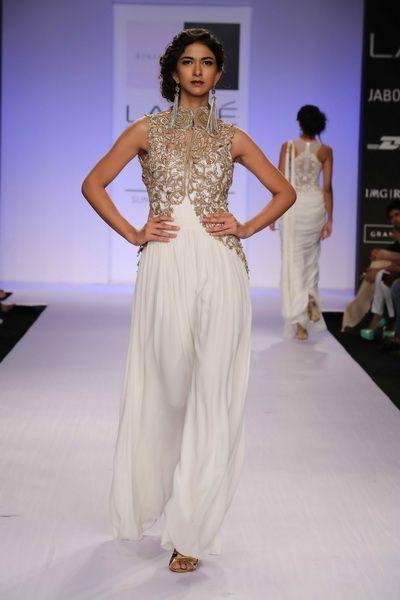 white wedding dress.  Indian bridal clothing