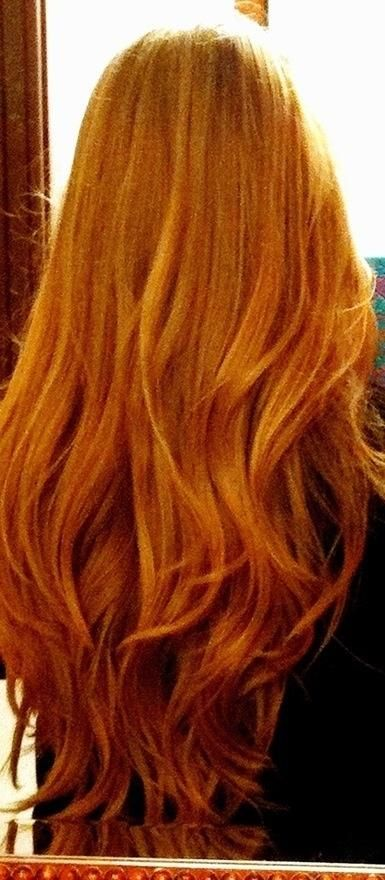 Long red hair with a lovely bit of movement. Why isn't my hair this?