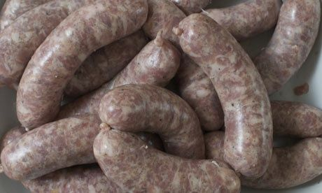 Tim Hayward's homemade sausages