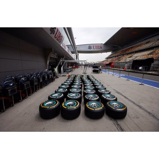 Pirelli Tires at the Chinese Grand Prix