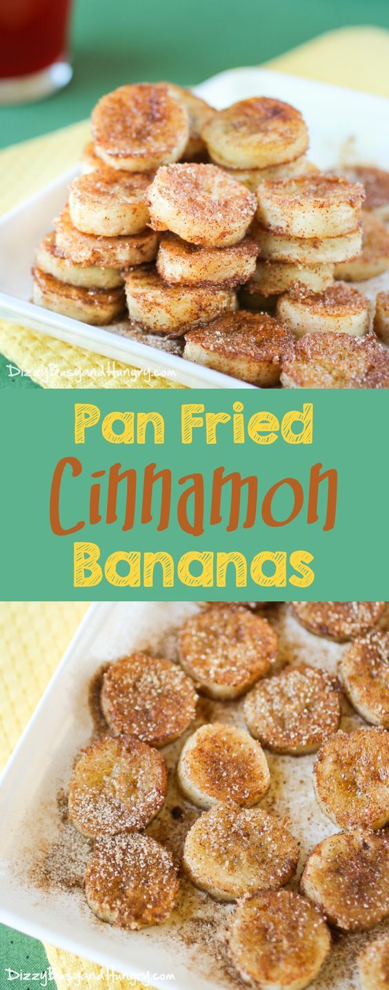 Pan Fried Cinnamon Bananas. Quick and easy recipe for overripe bananas perfect for a special breakfast or an afternoon snack!