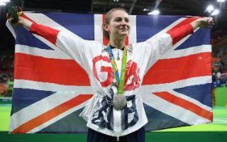 Bryony Page wins the silver medal in the Trampoline Gymnastics on Day 7 of the…
