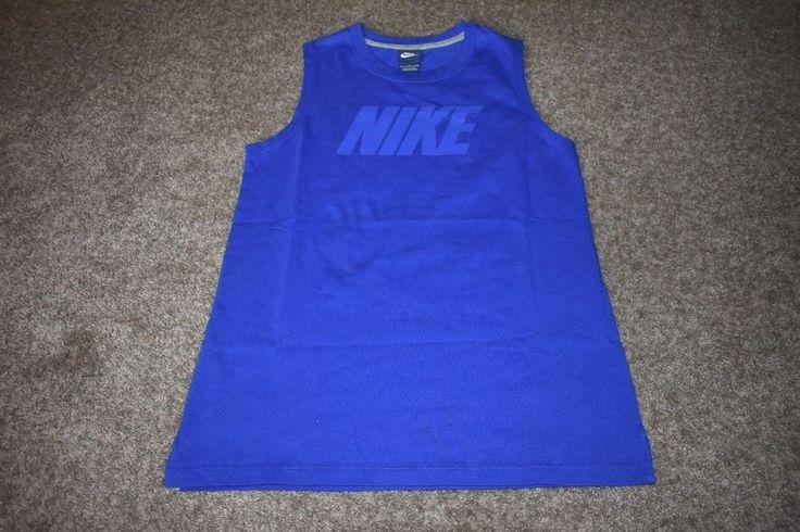 NWOT Nike Tank Top Sportswear AV 15 Womens Blue 804064 Size Small S #Nike #ShirtsTops