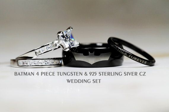BATMAN Tungsten and 925 Sterling Silver 2.8 by Cloud9Tungsten