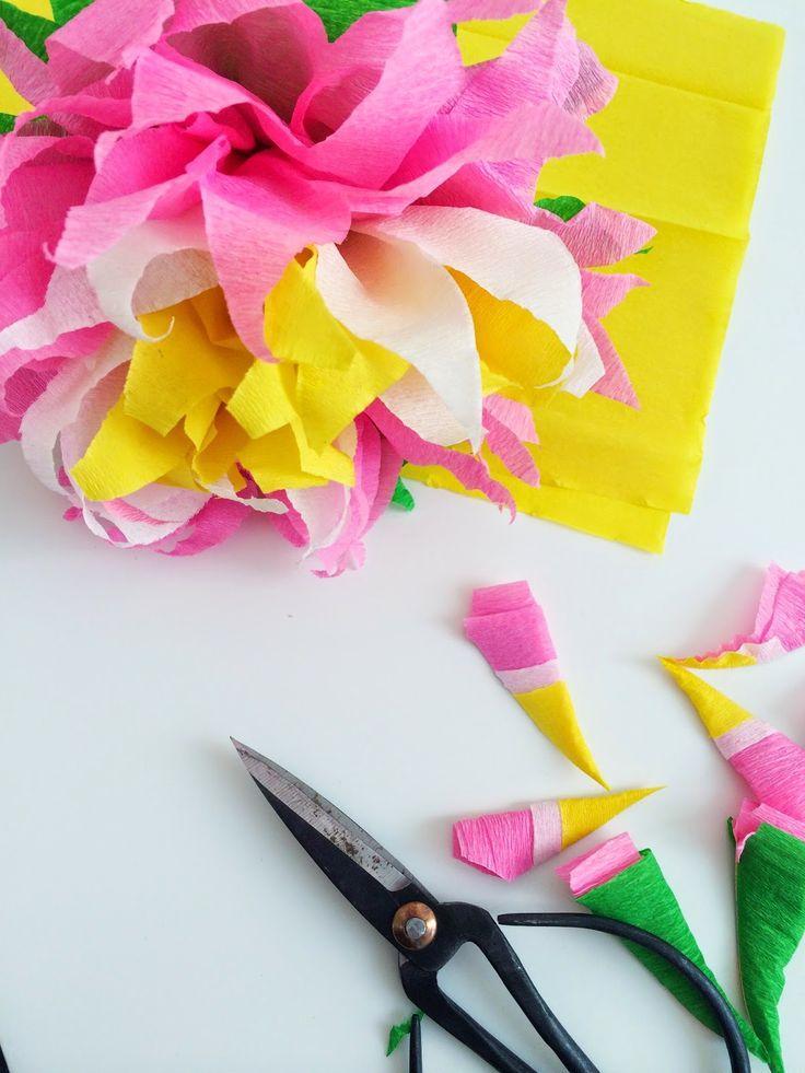 DIY paper flowers- diy papieren bloemen