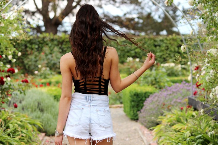 Outfit : The BodysuitWearing Supre Bodysuit / Supre Denim Shorts