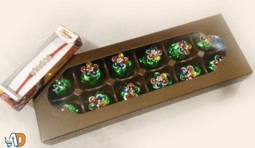 12 piece of Chocolate Box & 1 Rakhi in just Rs.169.
