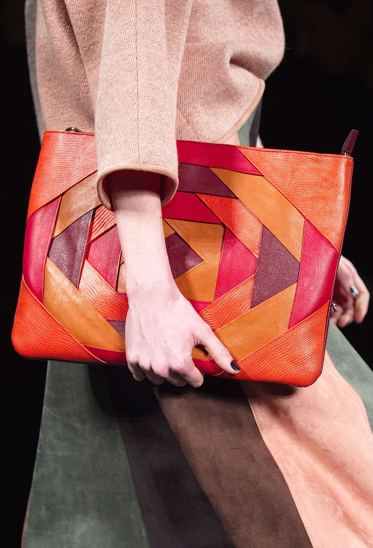 ❤ Leather #clutch #bag from Vivienne Tam For real leather lovers......with nothing heavy to carry.
