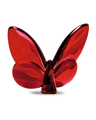 Lucky Red Mirror Butterfly by Baccarat at Neiman Marcus.