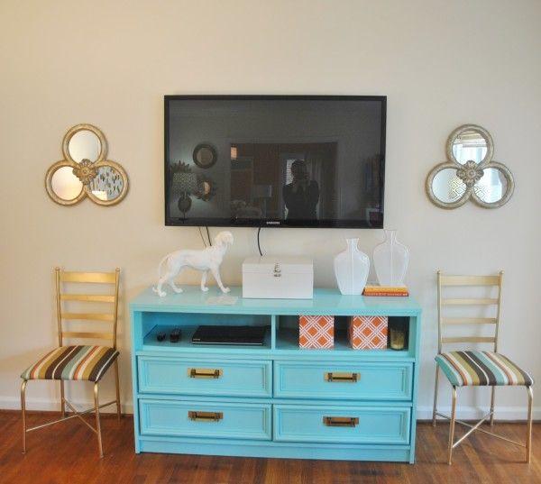 DIY media console furniture