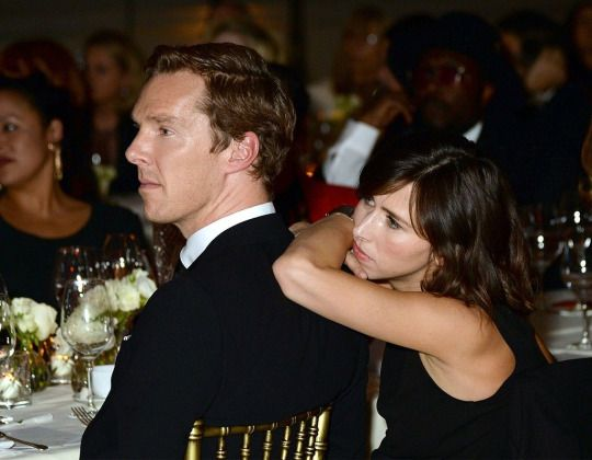 """Benedict Cumberbatch and Sophie Hunter at the """"Letters Live"""" black tie gala event in celebration of their Incredible Women of 2016 at The Victoria & Albert Museum - November 29, 2016"""