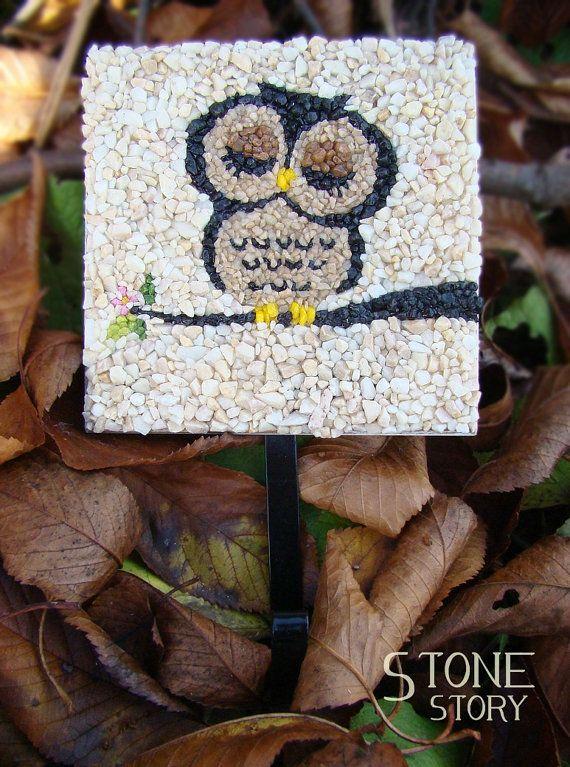 Mosaic decor owl unique hanger от StoneStorymosaic на Etsy