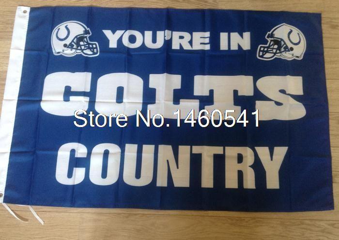 Ты В Colts Флаг страны 3ft x 5ft Полиэстер НФЛ Индианаполис Колтс Баннер Летающий Размер № 4 144*96 см QingQing Флаг