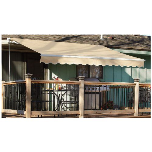 Castlecreek basic 12x10 foot retractable awning forest for 12x10 deck plans
