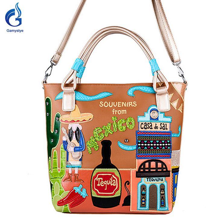 Messenger-Bag pu leather Handbag Bolsas fashion mexico beer chili cactus window style WOW #shop #beauty #Woman's fashion #Products #homemade
