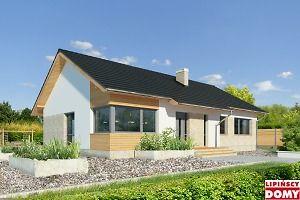 Nowoczesny, parterowy dom zaprojektowany nawet dla pięcioosobowej rodziny – posiada cztery wygodne sypialnie. Strefę dzienną stanowi przestronny, słoneczny salon z kominkiem oraz kuchnia. Jest to dom o prostej bryle, ale w nowoczesnej estetyce, która wzbogacają ciekawe rozwiązania elewacji. Prosta konstrukcja dachu powoduje, ze dom jest bardzo ekonomiczny w realizacji.