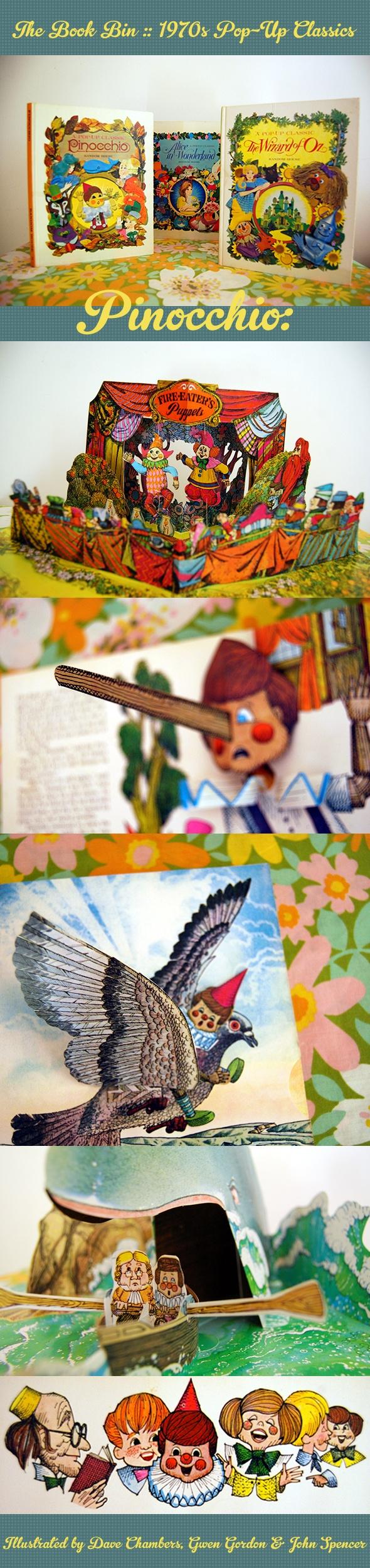 groovy 70s pop-up books :: Pinocchio