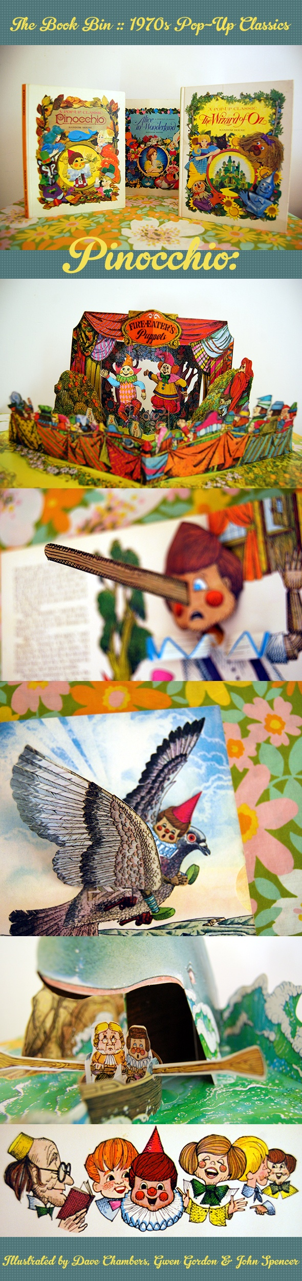 groovy 70s pop-up books :: Pinocchio