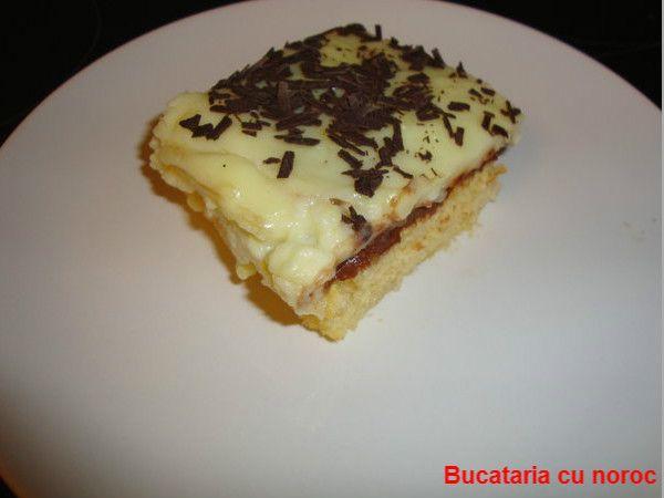 Bucataria cu noroc - prajitura cu nutella si crema de vanilie