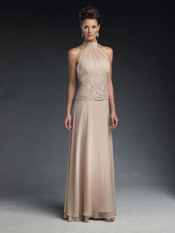 Champagne Lace Mother Of The Bride Gowns A Line Ankle