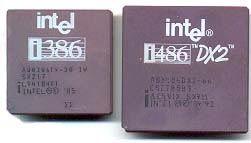 Quatro anos mais tarde era a vez do 386, ainda usando memórias de 30 pinos mas com maior velocidade de processamento. Ao contrário do 286, era possível rodar o Windows 3.11 no 386. Introduziu-se no mercado as placas VGA e suporte a 256 cores. Em 1989, eram lançados os primeiros 486 DX: eles vinham com memórias de 72 pinos (muito mais rápidas que as antigas de 30 pinos) e possuíam slots PCI de 32 bits – o que representava o dobro da velocidade dos slots ISA.