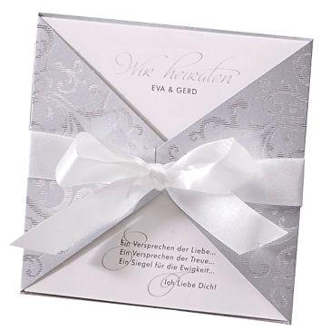 Hochzeitseinladung Ava in Silber