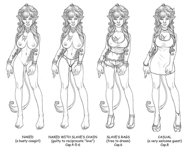 Character and Dress study - Rebecca the Slave - Pencil - 2014 - Copyright by Enrico Bettanin.