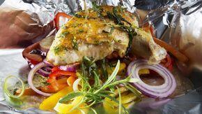 Kylling og grønnsaker i folie til grill eller ovn