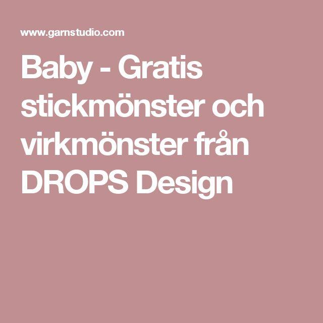Baby - Gratis stickmönster och virkmönster från DROPS Design