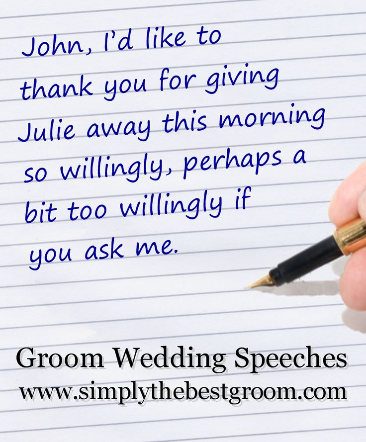 7 Best Groom's Speech Images On Pinterest