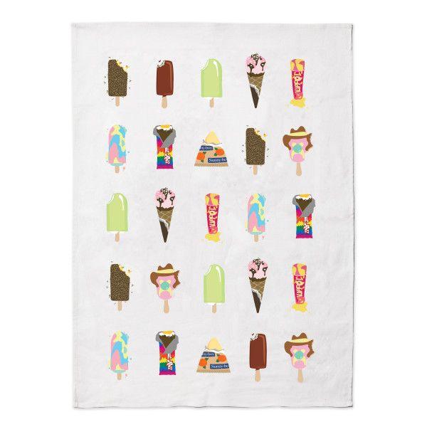 Iconic Aussie ice creams tea towel | Make Me Iconic
