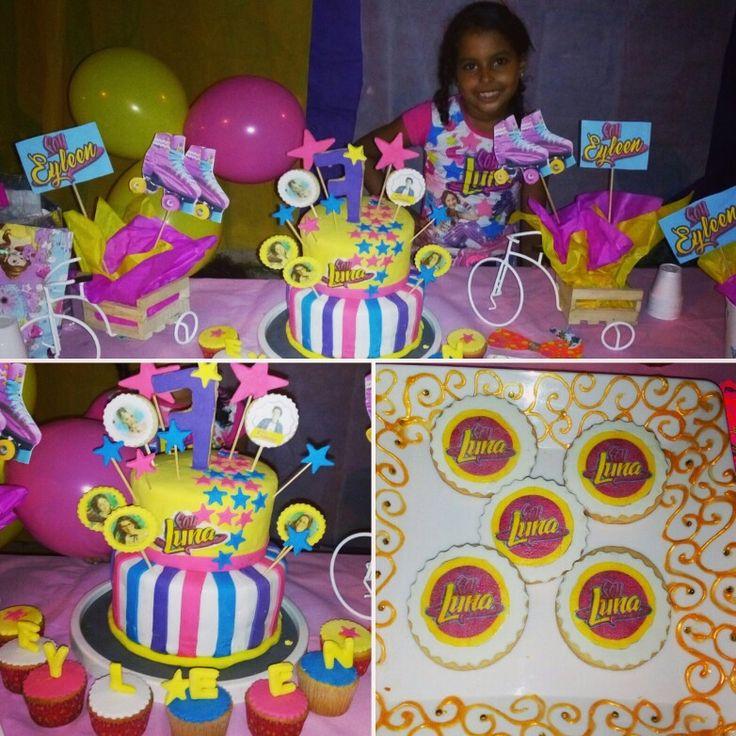 Torta, cupcakes y galletas de Luna para mi sobrina Eyleen
