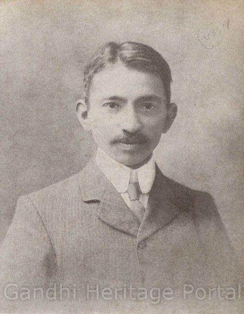 Mahatma Gandhi in 1907.