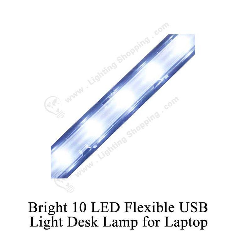 Flexible, USB, #LED #Table #Desk #Lamp - See more at: http://www.lightingshopping.com/bright-10-led-flexible-usb-light-desk-lamp-for-laptop.html