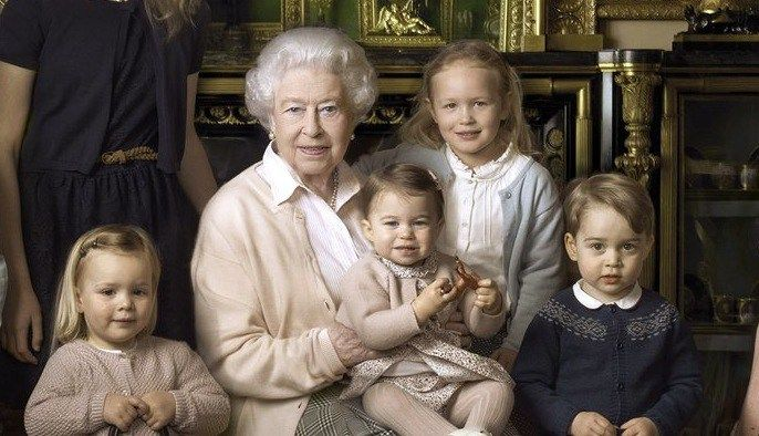 Queen Elizabeth's relationship with her two Great-grandchildren.