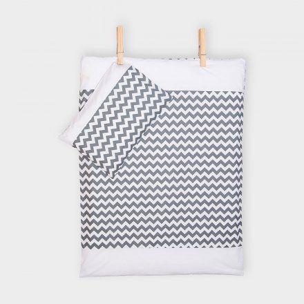 KraftKids Bettwäscheset Chevron grau mit Weiß online kaufen ➜ Bestellen Sie Bettwäscheset Chevron grau mit Weiß für nur 35,00€ im design3000.de Online Shop - versandkostenfreie Lieferung ab 50€!