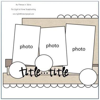 Scrapbook Page Sample Sketch