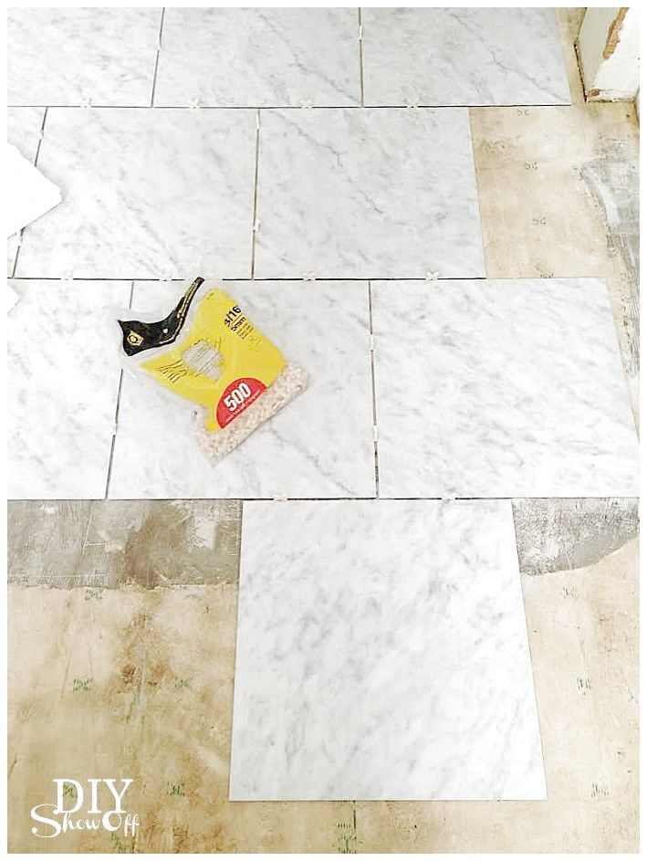 Diy Grouted Luxury Vinyl Floor Tiles It Is Groutable That Looks Just Like Ceramic Tile And Can Be Installed In 1 Day