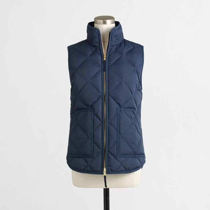 Factory quilted puffer vest : Vests | J.Crew Factory