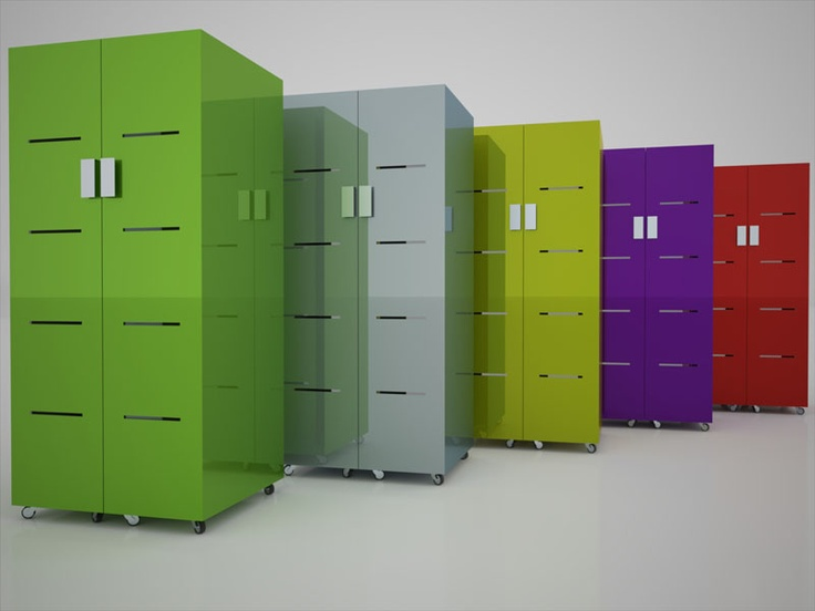 Libreria contenitore verticale Baubab by Dario Arpino    rendering David Cappa
