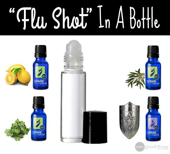 "Make your own ""flu shot"" in a bottle using essential oils."