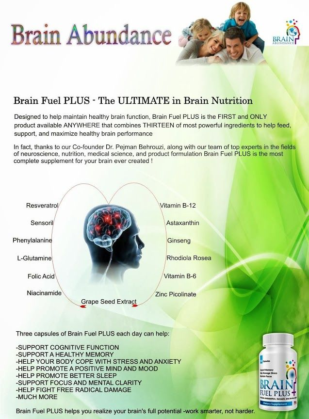 Designed to help maintain healthy brain function, Brain Fuel PLUS is the FIRST and ONLY product available ANYWHERE that combines THIRTEEN of most powerful ingredients to help feed, support, and maximize healthy brain performance. In fact, thanks to our Co-founder Dr. Pejman Behrouzi, along with our team of top experts in the fields of neuroscience, nutrition, medical science, and product formulation Brain Fuel PLUS is the most complete supplement for your brain ever created!