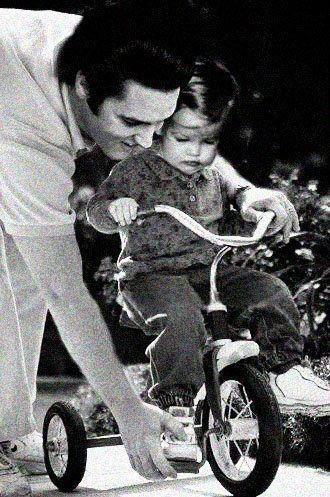 Elvis & his daughter Lisa Marie
