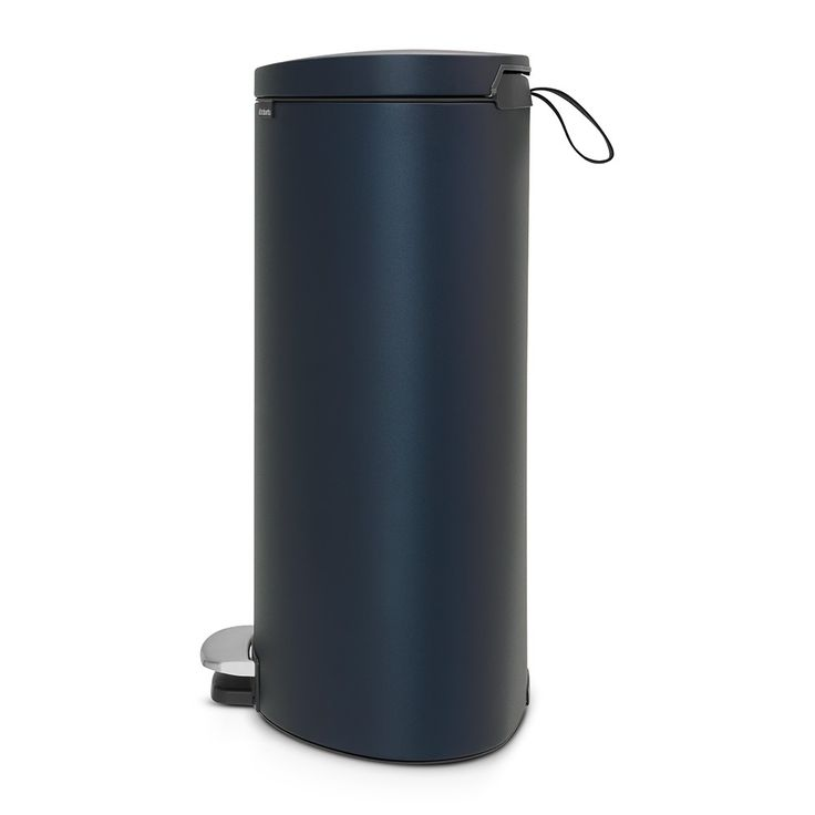 Pedal Bin FlatBack+, 40 litre, Soft Closing, Plastic Bucket - Mineral Blue - Waste bins & paper bins - Collecting waste  | Brabantia