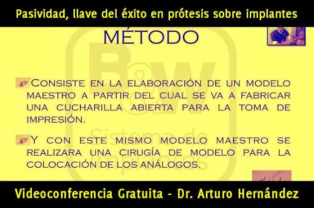 Videoconferencia: Pasividad, llave del éxito en prótesis sobre implantes - Dr. Arturo Hernández   Odonto-TV