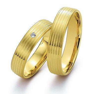 Его и ее обручальные кольца пары обручальные Кольца наборы для пар 14 К желтый Позолота здоровья титан Ювелирные изделия
